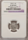 Barber Dimes: , 1904-S 10C --Improperly Cleaned--NGC Details. XF. NGC Census:(3/68). PCGS Population (12/103). Mintage: 800,000. Numismedia...