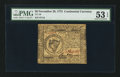 Colonial Notes:Continental Congress Issues, Continental Currency November 29, 1775 $8 PMG About Uncirculated 53EPQ.. ...