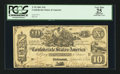 Confederate Notes:1861 Issues, 95% Fully Framed T29 $10 1861.. ...