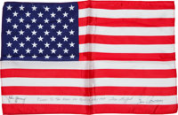 Apollo 10 Flown Crew-Signed Largest Size American Flag Originally from the Personal Collection of Mission Commander Tom...