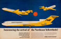 Mainstream Illustration, AMERICAN ARTIST (20th Century). Northeast Airlinesadvertisement. Print. 13.5 x 21 in.. Not signed. From theEstate ...