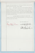 Basketball Collectibles:Others, 1975 Pete Maravich Signed Endorsement Contract. ...