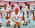 Baseball Collectibles:Photos, Big Red Machine Multi Signed Oversized Photograph. ...