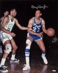 "Basketball Collectibles:Photos, Elgin Baylor ""Upper Deck Authenticated"" Signed OversizedPhotograph...."