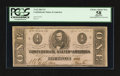 Confederate Notes:1863 Issues, Fully Framed with Huge Margins T62 $1 1863.. ...