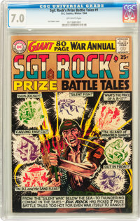 Sgt. Rock's Prize Battle Tales Annual #1 (DC, 1964) CGC FN/VF 7.0 Off-white pages