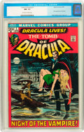 Bronze Age (1970-1979):Horror, Tomb of Dracula #1 (Marvel, 1972) CGC NM- 9.2 Off-white to whitepages....