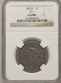 Large Cents: , 1823/2 1C Good 6 NGC. N-1. NGC Census: (5/53). PCGS Population(6/76). Mintage: 1,262,000. Numismedia Wsl. Price for probl...