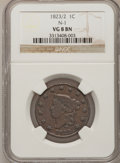 Large Cents: , 1823/2 1C VG8 NGC. N-1. NGC Census: (7/46). PCGS Population (8/68).Mintage: 1,262,000. Numismedia Wsl. Price for problem ...