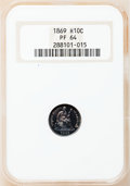 Proof Seated Half Dimes: , 1869 H10C PR64 NGC. NGC Census: (63/58). PCGS Population (52/39).Mintage: 600. Numismedia Wsl. Price for problem free NGC/...