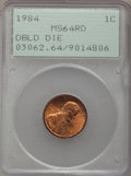 Lincoln Cents: , 1984 1C Doubled Die Obverse MS64 Red PCGS. PCGS Population(83/948). NGC Census: (23/318). Mintage: 8,151,078,912. Numismed...
