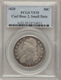 Bust Half Dollars: , 1820 50C Curl Base 2, Small Date VF35 PCGS. PCGS Population(10/139). NGC Census: (9/1501). Mintage: 751,122. Numismedia Ws...