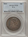 Bust Half Dollars: , 1814 50C E Over A VF25 PCGS. PCGS Population (5/56). NumismediaWsl. Price for problem free NGC/PCGS co...