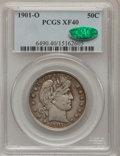 Barber Half Dollars: , 1901-O 50C XF40 PCGS. CAC. PCGS Population (9/43). NGC Census:(0/44). Mintage: 1,124,000. Numismedia Wsl. Price for proble...