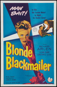 "Blonde Blackmailer (Allied Artists, 1958). One Sheet (27"" X 41""). Crime"