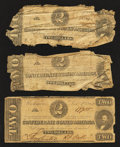 Confederate Notes:1862 Issues, T54 $2 1862. Three Examples.. T61 $2 1863.. ... (Total: 4 notes)
