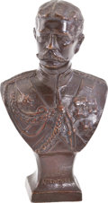 Military & Patriotic:WWI, Small Bronze Bust of Lord Kitchener Sculpted by E. E. Codman....