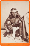 Military & Patriotic:Indian Wars, C. 1880 Cabinet Photograph of Apache Scout Nantaje, Awarded the Congressional Medal of Honor for Action Against Apaches on 12 ...