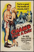 "Movie Posters:Sports, Champ for a Day (Republic, 1953). One Sheet (27"" X 41""). Sports....."