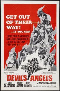 "Devil's Angels (American International, 1967). One Sheet (27"" X 41""). Exploitation"