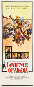 "Movie Posters:Academy Award Winners, Lawrence of Arabia (Columbia, 1962). Insert (14"" X 36"") Roadshow Style.. ..."