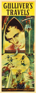 "Movie Posters:Animation, Gulliver's Travels (Paramount, 1939). Insert (14"" X 36"").. ..."