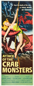 "Movie Posters:Science Fiction, Attack of the Crab Monsters (Allied Artists, 1957). Insert (14"" X36"").. ..."