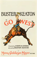 "Movie Posters:Comedy, Go West (MGM, 1925). Window Card (14"" X 22"").. ..."