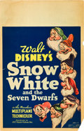 """Movie Posters:Animation, Snow White and the Seven Dwarfs (RKO, 1937). Window Card (14"""" X22"""").. ..."""