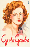 "Movie Posters:Drama, Greta Garbo Personality Poster (MGM, 1929). Austrian Poster (24"" X37"").. ... (Total: 2 Items)"
