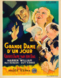 "Movie Posters:Comedy, Lady for a Day (Columbia, 1933). Pre-War Belgian (24"" X 33"").. ..."