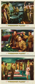 "Movie Posters:Science Fiction, Forbidden Planet (MGM, 1956). Lobby Cards (3) (11"" X 14"").. ...(Total: 3 Items)"