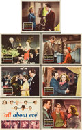 "Movie Posters:Academy Award Winners, All About Eve (20th Century Fox, 1950). Title Lobby Card and Lobby Cards (6) (11"" X 14"").. ... (Total: 7 Items)"