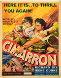 "Movie Posters:Western, Cimarron (RKO, R-1934). Window Card (14"" X 18.25"").. ..."