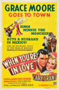 """Movie Posters:Romance, When You're in Love (Columbia, 1937). One Sheet (27"""" X 41"""") Style B.. ..."""
