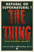 "Movie Posters:Science Fiction, The Thing from Another World (RKO, 1951). One Sheet (27"" X 41"")....."