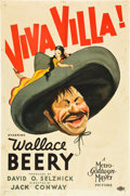 "Movie Posters:Western, Viva Villa! (MGM, 1934). One Sheet (27"" X 41"") Style D, Hirschfeld Art.. ..."