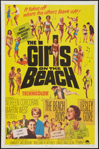 "The Girls on the Beach (Paramount, 1965). One Sheet (27"" X 41""). Rock and Roll"