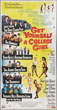 "Get Yourself a College Girl (MGM, 1964). Three Sheet (41"" X 81""). Comedy"