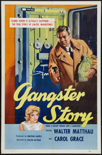 "Gangster Story (Releasing Corporation of Independent Producers, 1960). One Sheet (27"" X 41""). Crime"