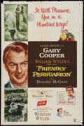 "Movie Posters:Drama, Friendly Persuasion (Allied Artists, 1956). One Sheet (27"" X 41""). Drama.. ..."