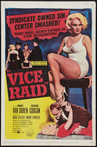 "Vice Raid (United Artists, 1960). One Sheet (27"" X 41""). Crime"