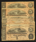Confederate Notes:1864 Issues, T69 $5 1864 Fifteen Examples.. ... (Total: 15 notes)