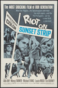 "Movie Posters:Exploitation, Riot on Sunset Strip (American International, 1967). One Sheet (27""X 41""). Exploitation.. ..."