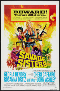 "Savage Sisters (American International, 1974). One Sheet (27"" X 41"") Style A. Bad Girl"