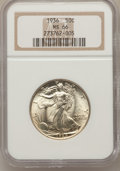 Walking Liberty Half Dollars: , 1936 50C MS66 NGC. NGC Census: (522/82). PCGS Population (761/107).Mintage: 12,617,901. Numismedia Wsl. Price for problem ...