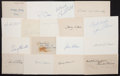 Baseball Collectibles:Others, Baseball Stars Signed Index Cards Lot of 17. ...