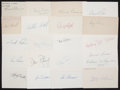 Baseball Collectibles:Others, Baseball Stars Signed Index Cards Lot of 21. ...