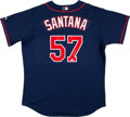 Baseball Collectibles:Uniforms, Johan Santana Signed Jersey....