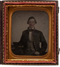 Military & Patriotic:Civil War, Sixth Plate Ambrotype Portrait of John McCullock, 11th Virginia Inf., as a Cadet at the Albemarle Military Institute C. 1858. ...